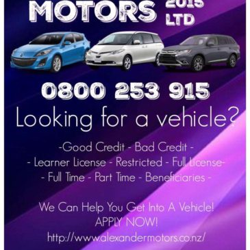 Alexander Motors 2015 Ltd : Your One Stop Vehicle Shop